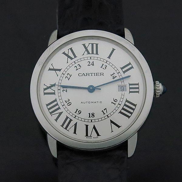 Cartier(까르띠에) W6701010 RONDE SOLO (론드 솔로) XL 오토매틱 가죽밴드 남성용 시계 [부산센텀본점] 이미지2 - 고이비토 중고명품