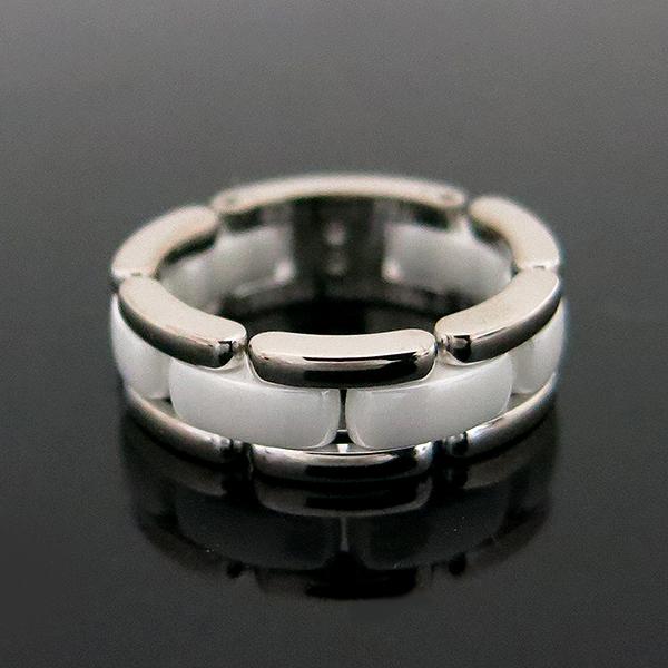 Chanel(샤넬) J2642 18K 화이트 골드 세라믹 울트라 반지 - 14호 [부산센텀본점]