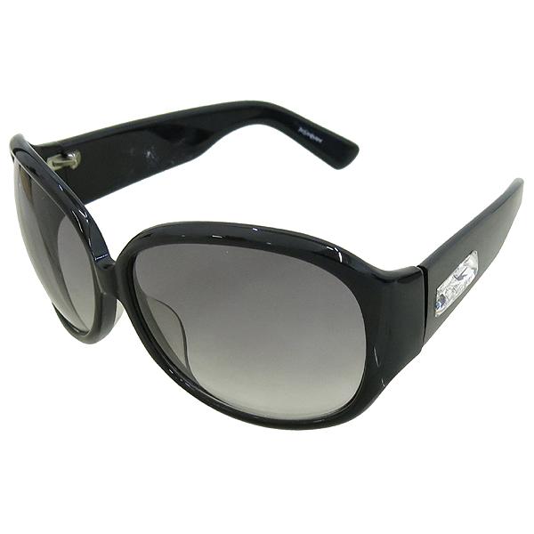 YSL(입생로랑) 측면 크리스탈 로고 장식 블랙 뿔태 선글라스 [강남본점]