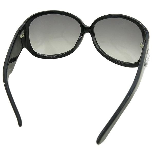 YSL(입생로랑) 측면 크리스탈 로고 장식 블랙 뿔태 선글라스 [강남본점] 이미지2 - 고이비토 중고명품