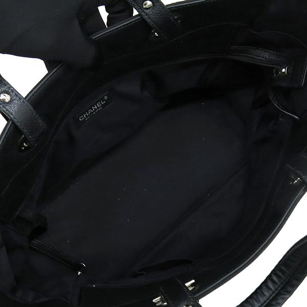 Chanel(샤넬) 블랙 패브릭 레더 혼방 비아리츠 MM 사이즈 숄더백 [대구반월당본점] 이미지6 - 고이비토 중고명품