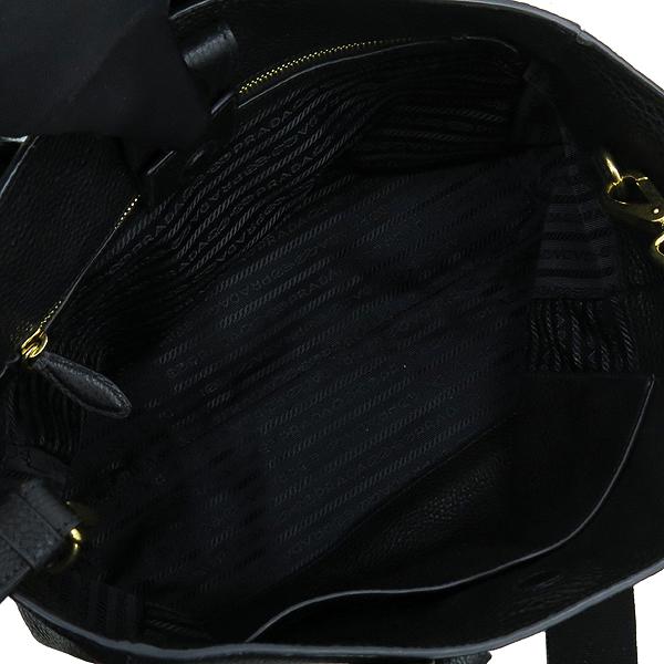 Prada(프라다) 1BG058 VIT.DAINO 블랙 레더 토트백 + 스트랩 [강남본점] 이미지6 - 고이비토 중고명품