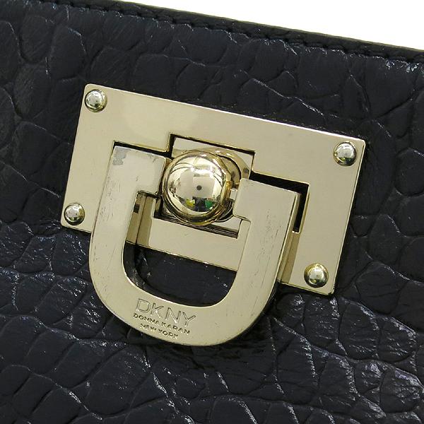 DKNY(도나카란) 금장 로고 장식 크로커다일 문양 블랙 레더 체인 숄더백 [강남본점] 이미지3 - 고이비토 중고명품