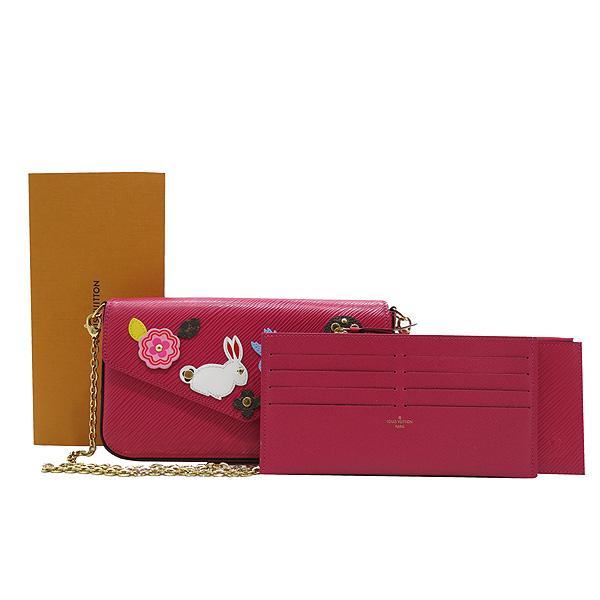 Louis Vuitton(루이비통) M62614 핑크 에삐 레더 포쉐트 펠리시 패치 장식 클러치 겸 크로스백 [인천점]