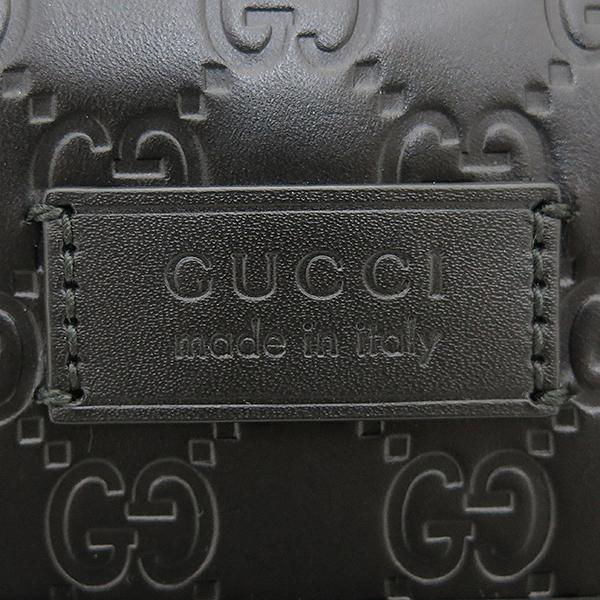 Gucci(구찌) 406408 블랙 레더 구찌 시그니처 남성용 크로스백 [부산센텀본점]
