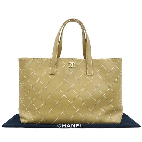 Chanel(샤넬) 베이지 컬러 와이드 스티치 토트백 [강남본점]