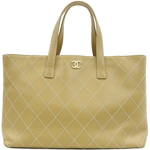 Chanel(샤넬) 베이지 컬러 와이드 스티치 토트백 [강남본점] 이미지2 - 고이비토 중고명품