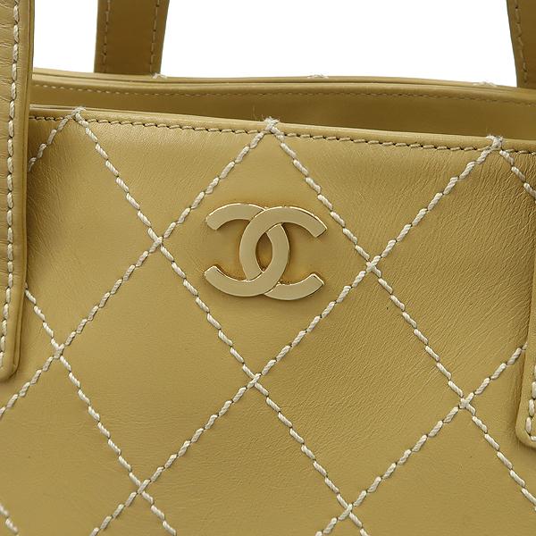 Chanel(샤넬) 베이지 컬러 와이드 스티치 토트백 [강남본점] 이미지4 - 고이비토 중고명품