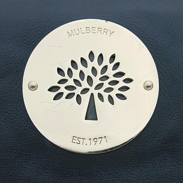 MULBERRY(멀버리) 로고 장식 블랙 레더 클러치백 [부산센텀본점] 이미지5 - 고이비토 중고명품