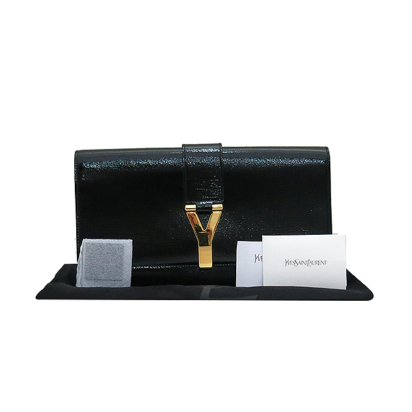 YSL(입생로랑) 265701 골드 로고 블랙 페이던트 카사시크 클러치백 [부산센텀본점]