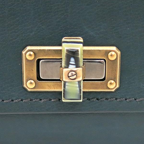 LANVIN(랑방) 그린 레더 해피 플랩 빈티지 체인 숄더백 [부산센텀본점] 이미지3 - 고이비토 중고명품