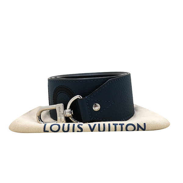 Louis Vuitton(루이비통) J02390 네이비 컬러 토뤼옹 블랙 로고 이니셜 반둘리에 숄더 스트랩 [인천점]