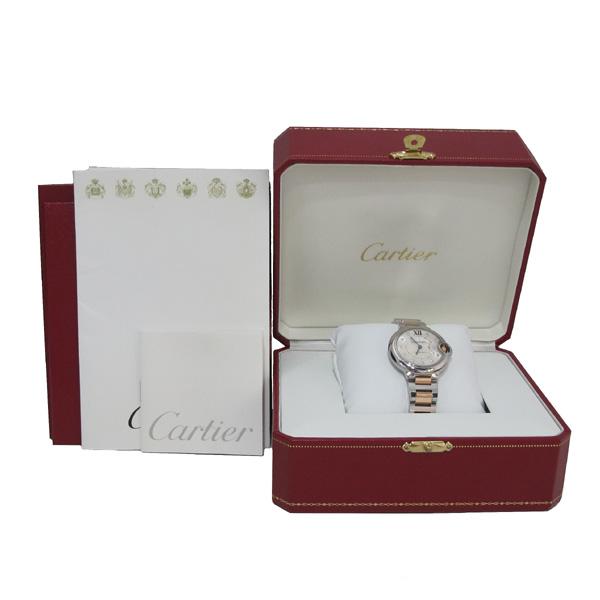 Cartier(까르띠에) WE902044 발롱블루 로즈골드 콤비 11포인트 다이아 33MM 여성용 시계 [대구반월당본점]
