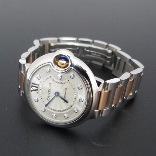 Cartier(까르띠에) WE902044 발롱블루 로즈골드 콤비 11포인트 다이아 33MM 여성용 시계 [대구반월당본점] 이미지3 - 고이비토 중고명품