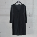 Sandro(산드로) 실크 100% 블랙 컬러 여성용 브이넥 원피스 [동대문점]