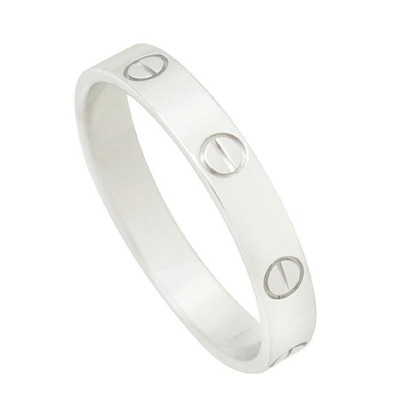 Cartier(까르띠에) B4085163 18K 화이트골드 미니 러브링 웨딩밴드 반지 - 23호 [강남본점]