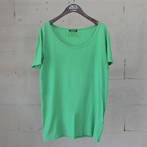 Balmain(발망) 면 100% 그린 컬러 여성용 빈티지 반팔 티셔츠 [동대문점]