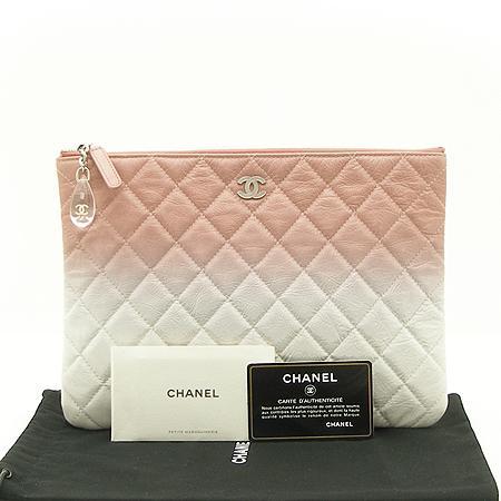 Chanel(샤넬) 18 S/S  한정판 핑크+화이트 페이던트 그라데이션 참장식 클러치백 -25번대 (W)