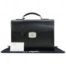 Dupont(듀퐁) 181001 은장 락 장식 블랙 레더 서류가방 [강남본점]