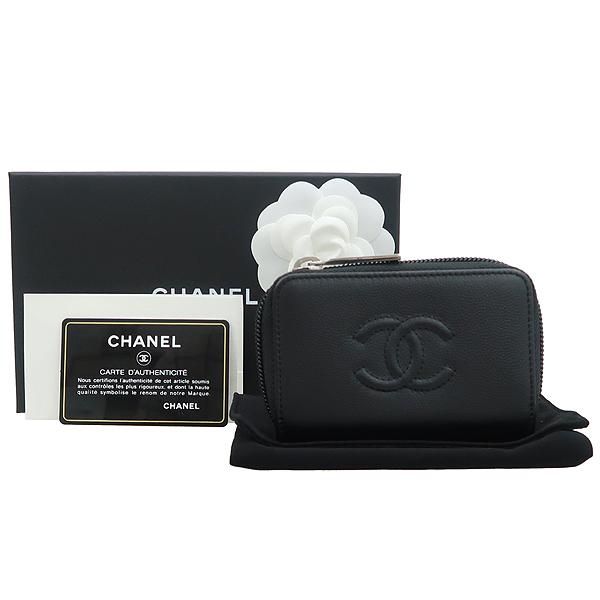 Chanel(샤넬) A70264 블랙 그레인드 카프스킨 골드 메탈 동전지갑 [강남본점]