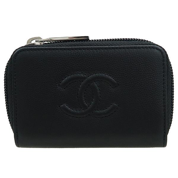 Chanel(샤넬) A70264 블랙 그레인드 카프스킨 골드 메탈 동전지갑 [강남본점] 이미지2 - 고이비토 중고명품