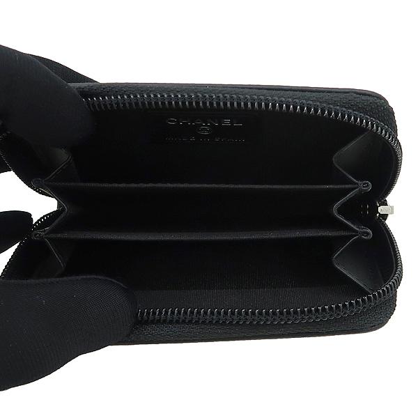 Chanel(샤넬) A70264 블랙 그레인드 카프스킨 골드 메탈 동전지갑 [강남본점] 이미지3 - 고이비토 중고명품