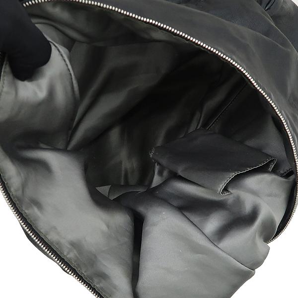 Chanel(샤넬) 빈티지 카프스킨 블랙 coco 로고 스티치 호보 3체인 핸들 숄더백 [강남본점] 이미지5 - 고이비토 중고명품