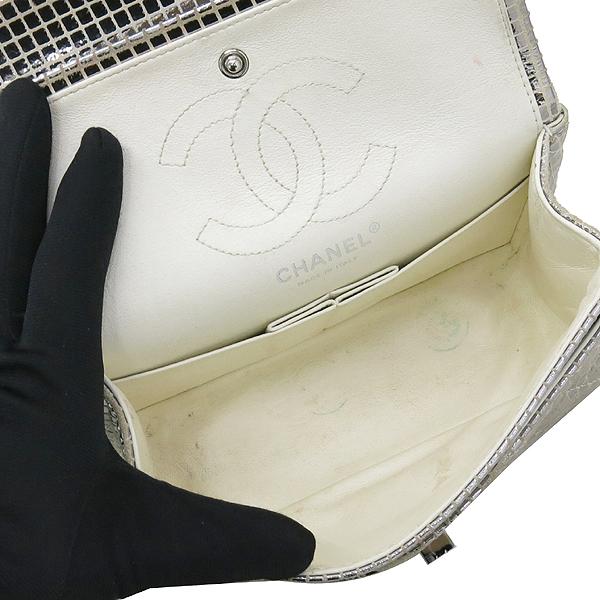 Chanel(샤넬) 실버 메탈릭 미러 디테일 2.55 미니 퀼팅 은장로고 체인 플랩 숄더백 [강남본점] 이미지7 - 고이비토 중고명품