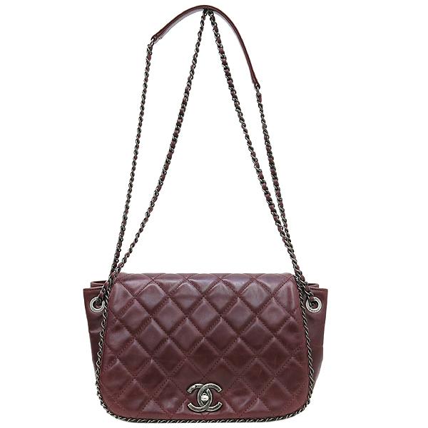 Chanel(샤넬) 버건디 컬러 카프스킨 아코디언 어라운드 체인 숄더백 [강남본점] 이미지2 - 고이비토 중고명품