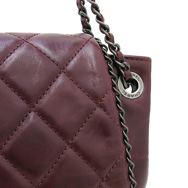 Chanel(샤넬) 버건디 컬러 카프스킨 아코디언 어라운드 체인 숄더백 [강남본점] 이미지4 - 고이비토 중고명품