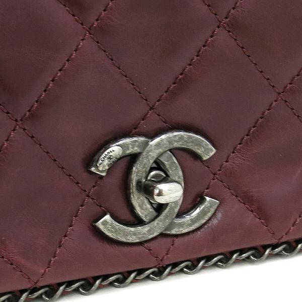 Chanel(샤넬) 버건디 컬러 카프스킨 아코디언 어라운드 체인 숄더백 [강남본점] 이미지5 - 고이비토 중고명품