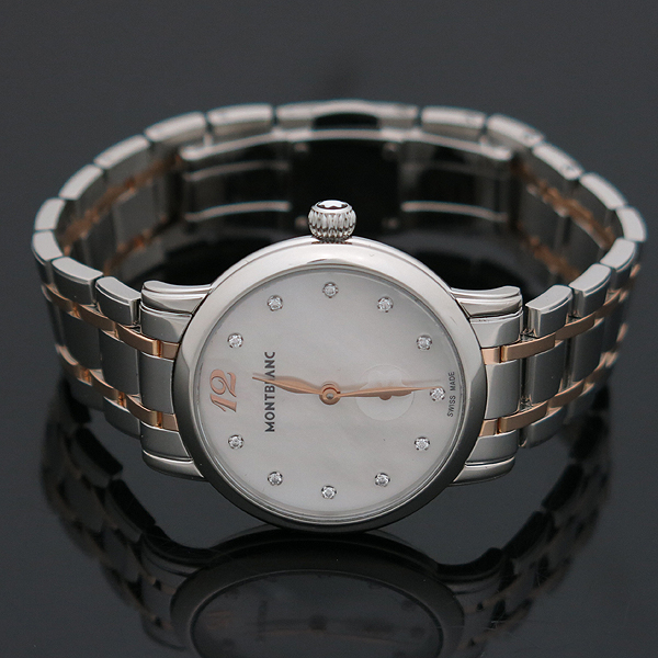 Montblanc(몽블랑) 110304 스타클래식 레이디 11포인트 다이아 30mm 18K 콤비 쿼츠 여성용 시계 [인천점] 이미지3 - 고이비토 중고명품