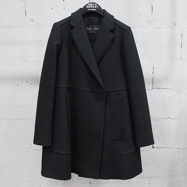 PROENZA SCHOULER(프로엔자슐러) 울 혼방 블랙 컬러 여성용 코트 [동대문점]