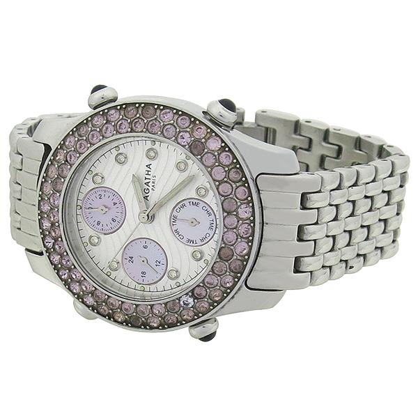 Agatha(아가타) 베젤 장식 크로노 여성용 시계 [강남본점] 이미지2 - 고이비토 중고명품