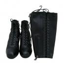 Prada(프라다) 블랙 레더 여성용 앵글 부츠 + 롱부츠 다리토시 [부산센텀본점]
