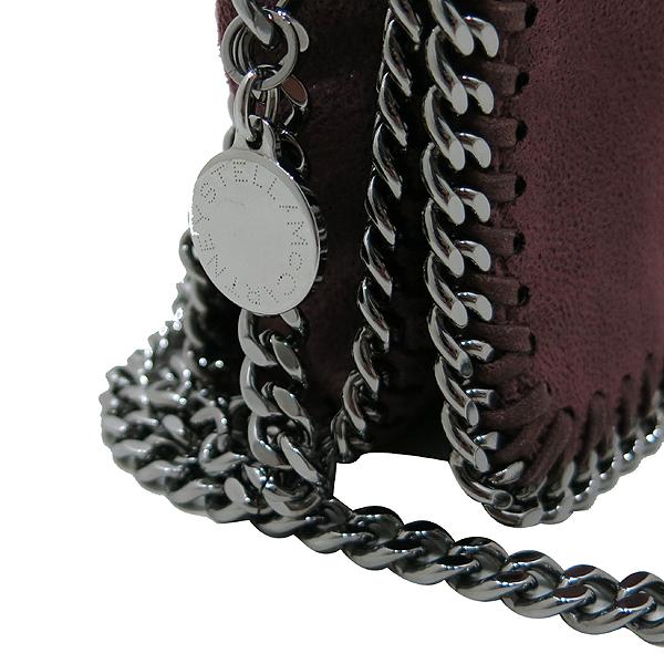 STELLA McCARTNEY(스텔라매카트니) 291622W9132 버건디 컬러 레더 팔라벨라 은장 아웃오브체인 플랩 크로스백 [인천점] 이미지4 - 고이비토 중고명품
