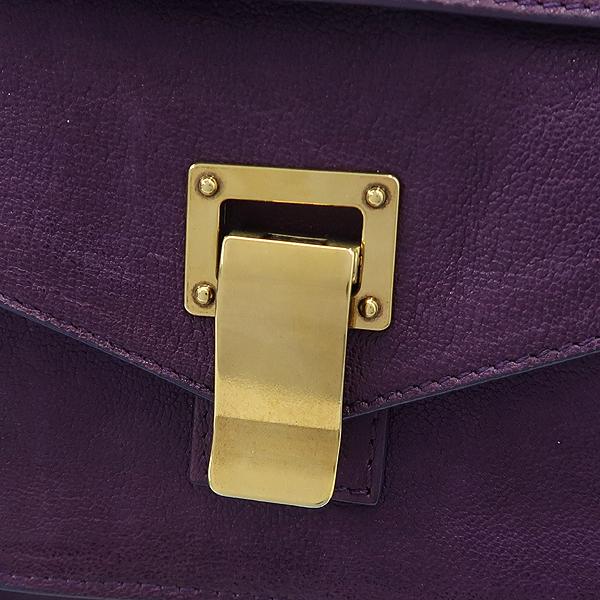 PROENZA SCHOULER(프로엔자슐러) 퍼플 컬러 레더 PS1 판쵸 금장로고 락 디테일 플랩 토트백 + 숄더스트랩 2WAY [강남본점] 이미지5 - 고이비토 중고명품