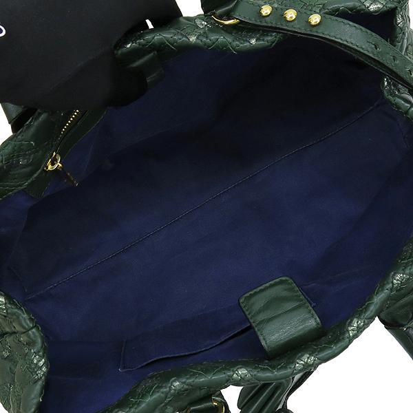 Marc_Jacobs (마크제이콥스) C392035 금장 자물쇠 로고 장식  그린 레더 토트백 + 스트랩 [강남본점] 이미지6 - 고이비토 중고명품