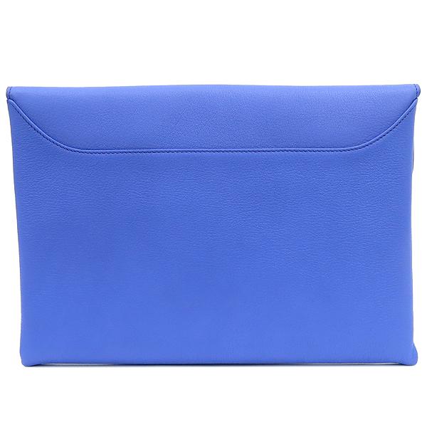 GIVENCHY(지방시) 라이트 퍼플 블루 컬러 레더 은장로고 안티고나 플랩 클러치 [강남본점] 이미지5 - 고이비토 중고명품