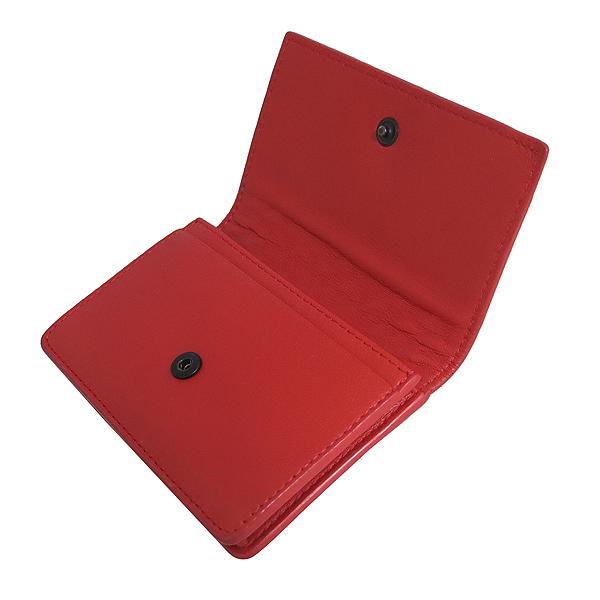 BOTTEGAVENETA(보테가베네타) 133945 레드 레더 인트레치아토 나파 카드 겸 명함지갑 [동대문점]