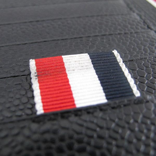 THOM BROWNE(톰브라운) MAW033A 00198 001 톰브라운 남성 페블 블랙 레더 장지갑 [대구반월당본점]