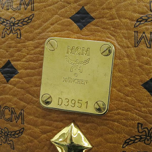 MCM(엠씨엠) MWK0SVE52RECO001 비세토스 슈타크 금장로고 백팩 [강남본점] 이미지3 - 고이비토 중고명품