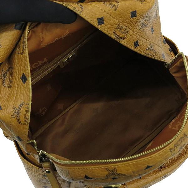 MCM(엠씨엠) MWK0SVE52RECO001 비세토스 슈타크 금장로고 백팩 [강남본점] 이미지5 - 고이비토 중고명품