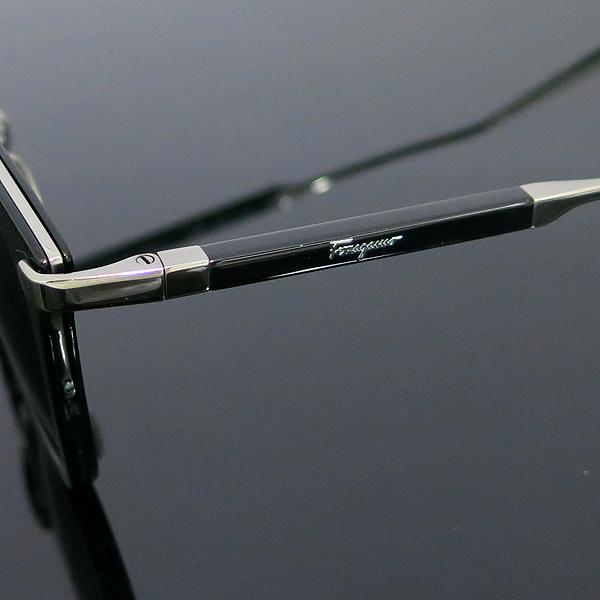 Ferragamo(페라가모) SF898SK 은장 투톤 블랙 측면 로고 뿔테 선글라스 [동대문점] 이미지5 - 고이비토 중고명품
