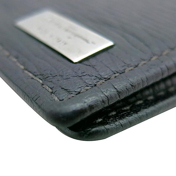 Ferragamo(페라가모) 66 8060 블랙 레더 머니 클립 반지갑 [부산센텀본점] 이미지5 - 고이비토 중고명품