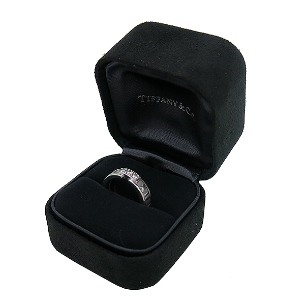 Tiffany(티파니) 18K(750) 화이트골드 3포인트 다이아 아틀라스 반지 - 9호 [부산센텀본점]