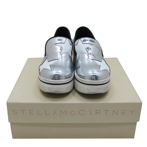 STELLA McCARTNEY (스텔라매카트니) 392314 실버 레더 화이트 스타빈스 여성용 로퍼 [인천점]