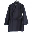 Armani(아르마니) 네이비 컬러 실크혼방 여성용 하프 코트 (벨트 Set) [강남본점]