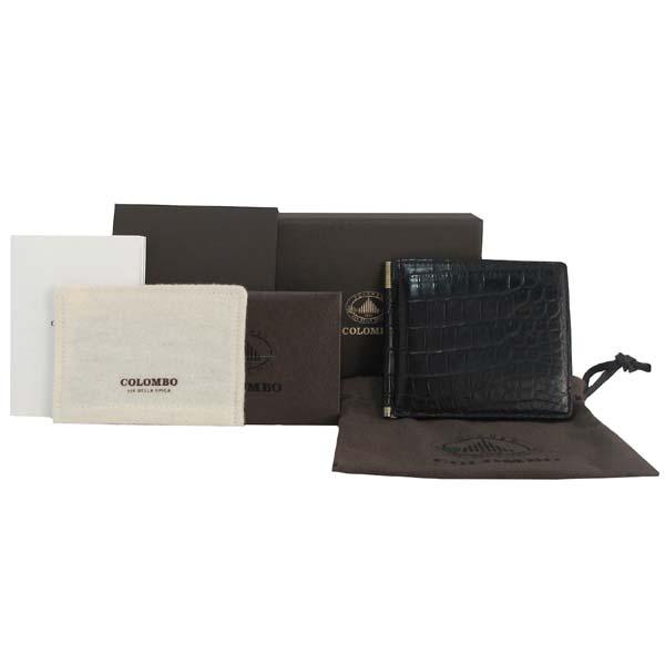COLOMBO(콜롬보) 블랙 와니(악어 가죽) 머니클립 카드지갑 [대구반월당본점]