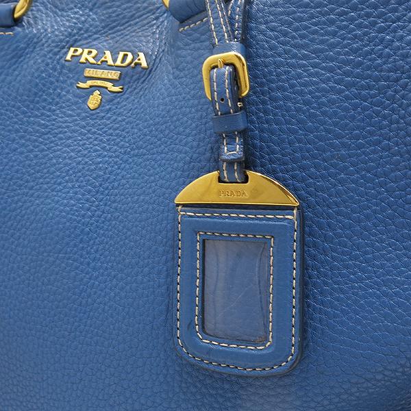 Prada(프라다) BN1713 VIT.DAINO(비텔로다이노) 오션블루 레더 금장 로고 토트백 + 숄더스트랩 2WAY [인천점] 이미지4 - 고이비토 중고명품